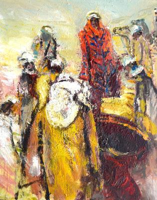 """Jakob u.s. Brüder"",2012,Acryl/Leinwand, 100x80"