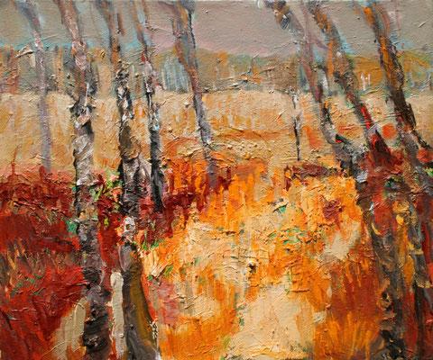 """Herbstliches Moor"",2012,Acryl/Leinwand,50x60"