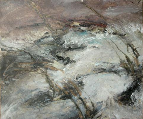 """""""Hochwasser in BB"""",2002, Öl/Leinwand,50x60"""