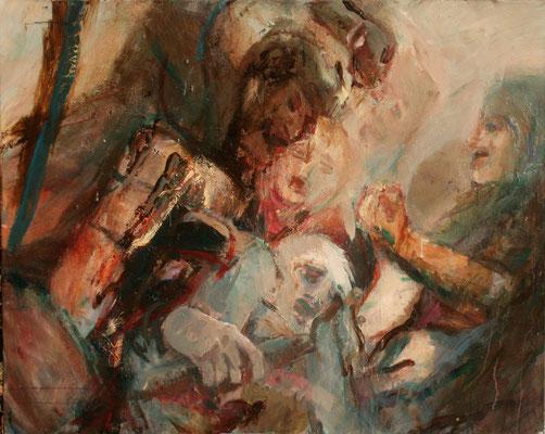 """""""Mythologische Szene"""", 2008, Acryl/Leinwand, 80x100"""