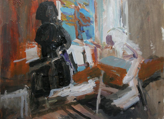 """Im Dachatelier"",2007,Acryl/Leinwand,40x50"