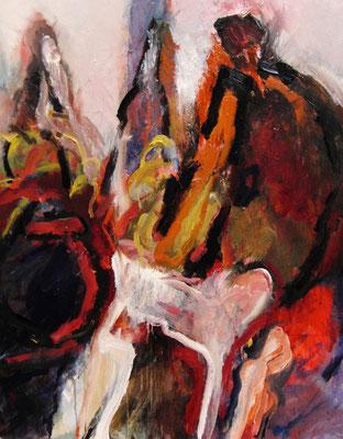 """""""Begegnung"""", 2010,Acryl/Leinwand,100x80"""