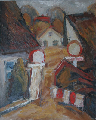 """Baustelle in Kammincke/Usedom"",2006,AcrylHartfaser,"