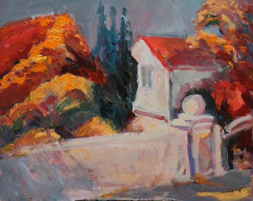 """Herbstliches Öland"",2008, Acryl/Leinwand,40x50"