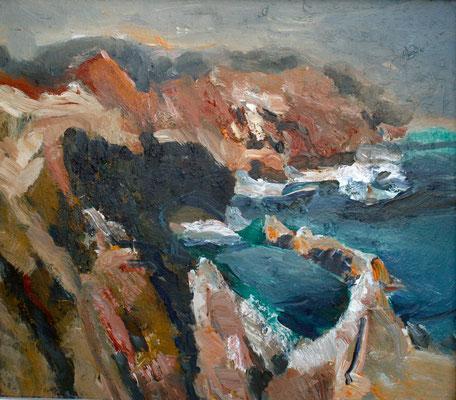 """Menorca-Erinnerung"",2011, Acryl/Malpappe, 60x69"