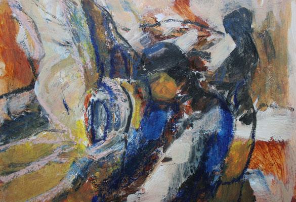 """""""Interieur m. Figuren"""",2006,Acryl/Karton,28x36"""