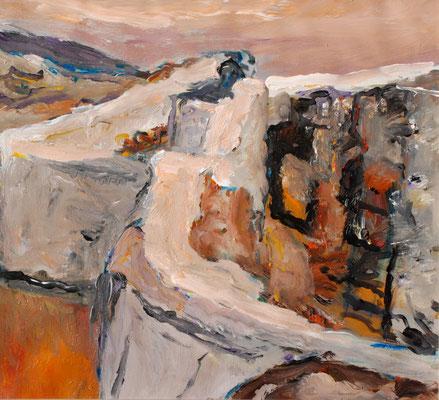 """""""Erinnerung an Andalusien"""", 2012, Acryl a.Öl/Leinwand/Hartfaser"""