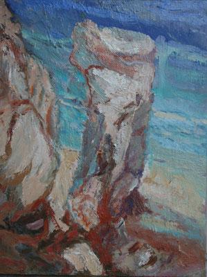 """""""Felsen b. da Rocha/Algarve"""",2006,Öl/Leinwand,50x40"""