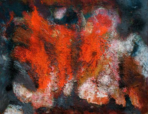 """""""Element Feuer"""",1988, Mischt/Hartfaser, 130x102"""
