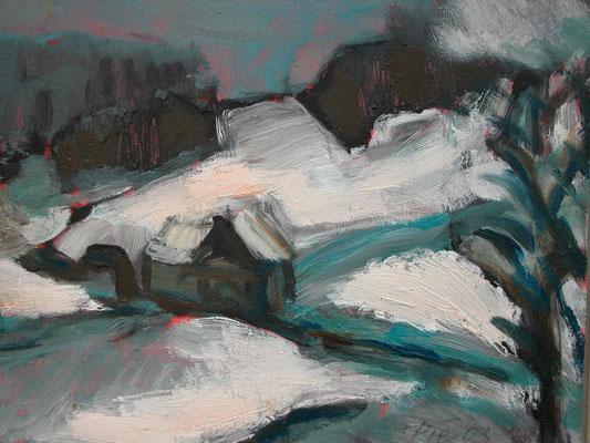 """Tauwetter"",2003,Öl/Leinwand,70x80"