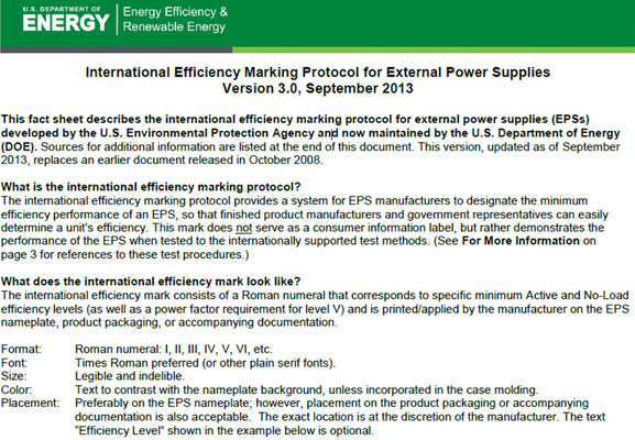 Int. Efficiency Marking Protocol for EPSs