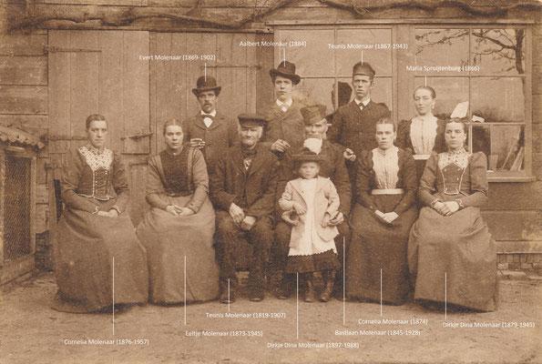 De familie Molenaar omstreeks 1901