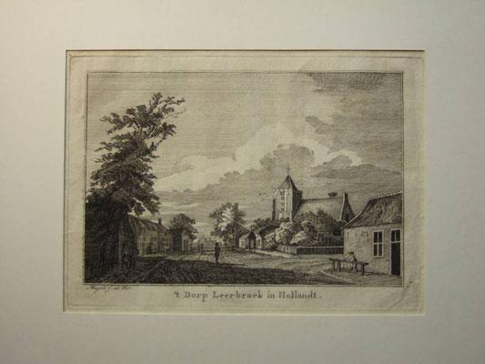 't Dorp Leerbroek in Hollandt - naar een tekening van P. van Liender