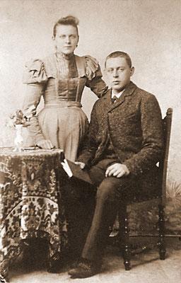 Gerrigje Heiltje Anneke van Merkerk (1878-1956) en Marinus van der Heiden (1878-1954)