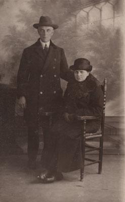 Cornelis van Merkerk (1874-1956) en Neeltje Zaanen (1877-1956)
