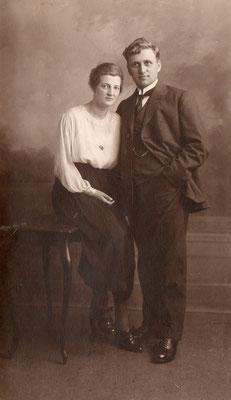 Geertje van Merkerk (1898-1968) en Meindert Dijkstra (1897-1953)