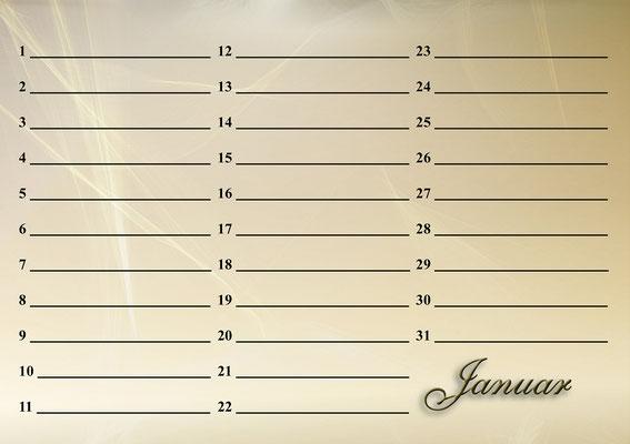 Katzenkalender Januar