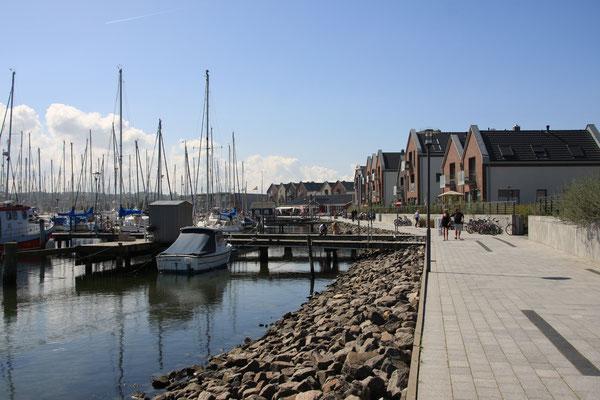 Blick auf die Marina Heiligenhafen...