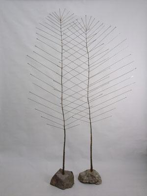 Objekt 'großes Blatt' aus Eisen von Traudl Kammermeier