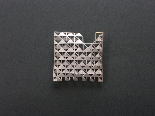 Brosche aus Silber von Traudl Kammermeier.