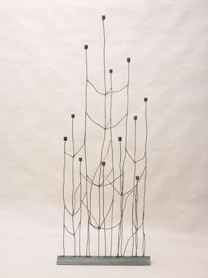 Kerzenleuchter 'Gestrüpp' aus Eisen von Traudl Kammermeier. Auf Anfrage.