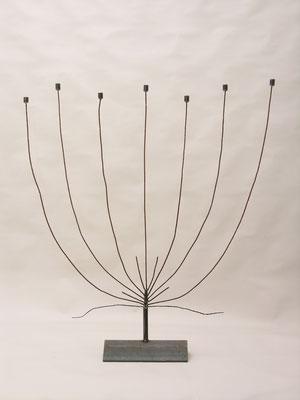 Kerzenleuchter 'jüdisch' aus Eisen von Traudl Kammermeier. Auf Anfrage.