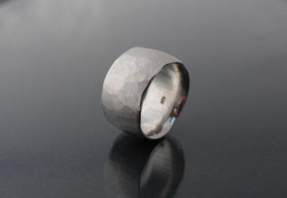 breiter Silberring für Herren