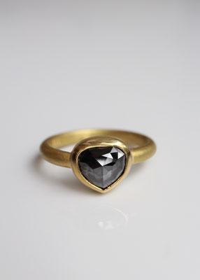 schwarzer Rosenschliffdiamant