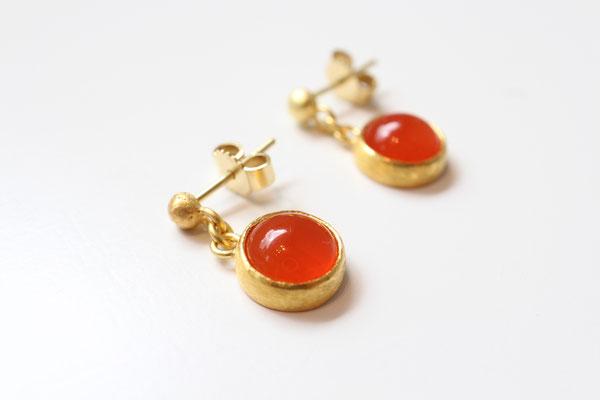 Ohrringe Gold und Karneol