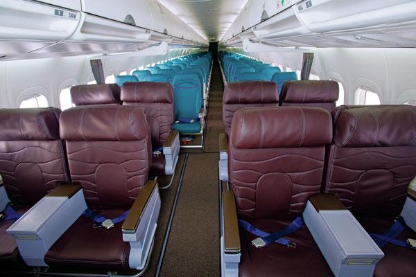 Blick in einer Boeing 717-Kabine/Courtesy: Hawaiian Airlines