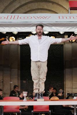 """Christian Alexander Müller als """"Jesus"""" in JESUS CHRIST SUPERSTAR - Gandersheimer Domfestspiele 2015 ©Hillebrecht/Die Foto-Maus"""