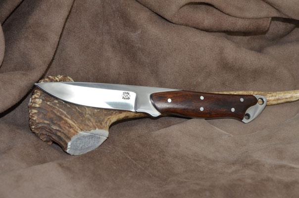 "#180 Nolen Swinger.  Blade length 4"" Overall 8 1/4"" Made with 440C.  Coco Bolo handle.  Maker RD Nolen  $200"