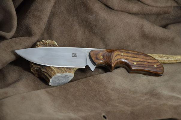 "#171 Rio Grande skinner. Blade length 4 1/4"" Overall 8 3/8"" Made with 440C.  Dymondwood (heritage walnut) handle.  Maker RD Nolen  $275"