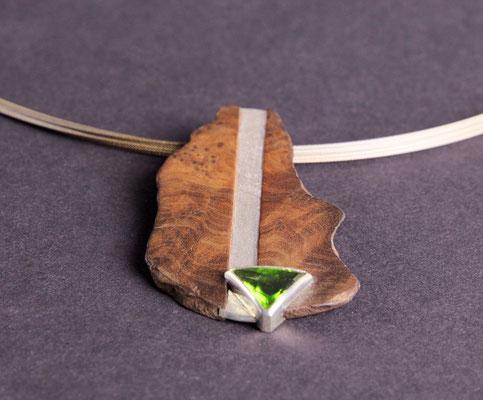 Anhänger; Holz, 925/_ Silber, Perido