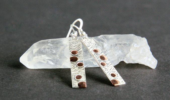 Ohrhänger; 925/_ Silber und Kupfer