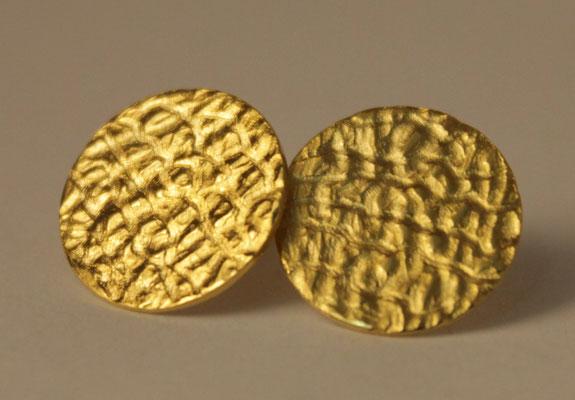 Ohrstecker; 925/_ Silber vergoldet