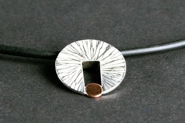 Anhänger; 925/_ Silber und Kupfer