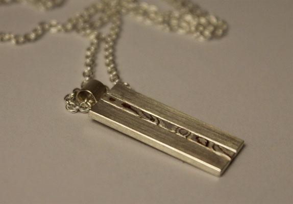 Anhänger; 925/_ Silber und Mokume Gane Silber/Kupfer