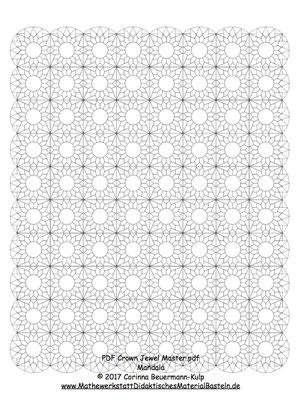 Das EPP Muster heißt Crown Jewels. Mein neuer Yoga Quilt soll 8 x 10 sein, mit Bogenrand.