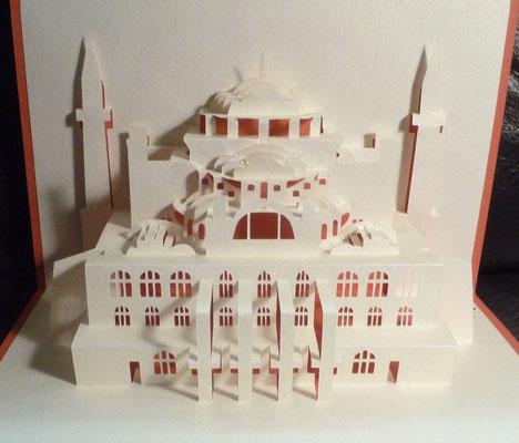 Kirigami Hagia Sophia