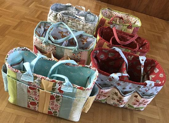 Wickeltischtaschen und zwei Oslo Craft Bag