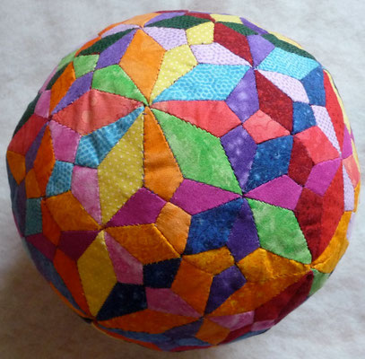 Spheres with different tiling in the surface. The same ball - other side