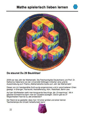 Da staunst Du - 29 Bauklötze! Award Quilt with a puzzle game.