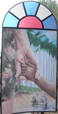 """Das Titelbild vom Weltgebetstag """"Kuba"""" mit dem Hobbyplotter umgesetzt."""
