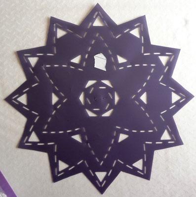 Eine neue Sashiko Quiltschablone für meinen Tenderness Quilt.