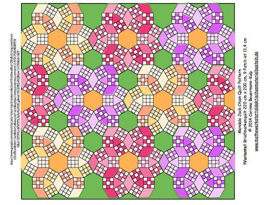 JPG Jack Chain Muster 52   So ähnlich wie gerade in der Quiltmania. Das Muster heißt auch Ring Circles.