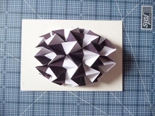 Also, meine Origami Teile sehen jetzt so aus.