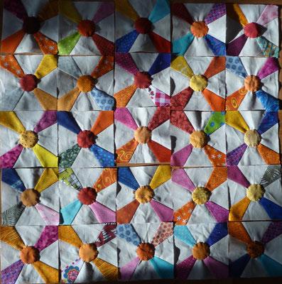 Advent201609 Kaleidoskopblöcke für den Hintergrund im Außenbereich.