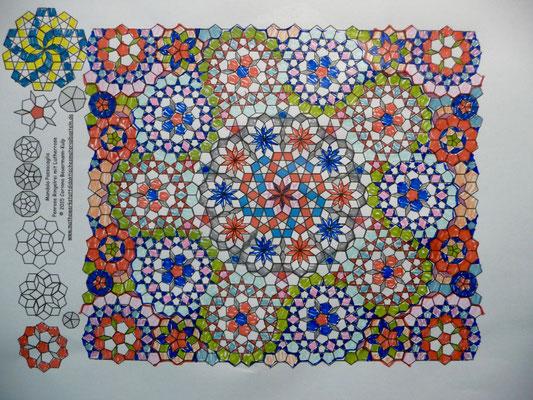 Mein finaler Entwurf für den Passacaglia Quilt.