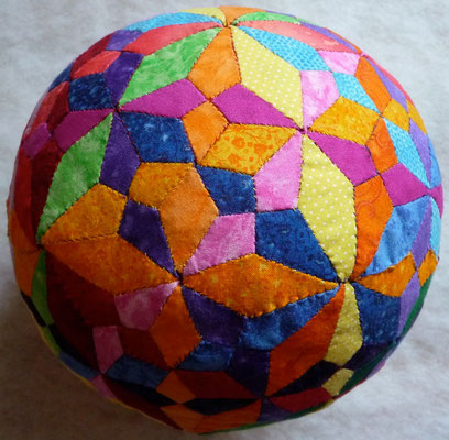 Spheres with different tiling in the surface. The same ball - other side.